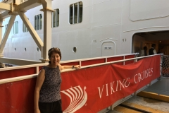 Boarding the Viking Sea Cruise Ship