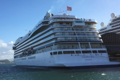 Viking Sea Cruise Ship Docked in Puerto Rico