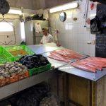 Fresh salmon at local market