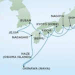 Regent Japan Itinerary Map